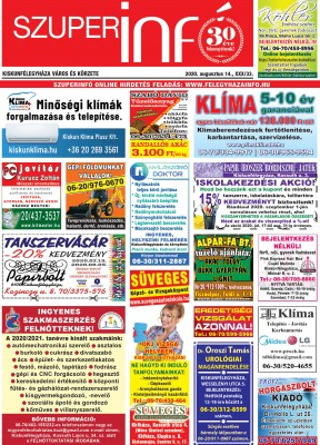 Kiskunfélegyházi Szuperinfó 2020. augusztus 14.