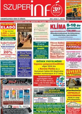 Kiskunfélegyházi Szuperinfó 2020. október 2.