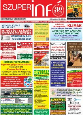 Kiskunfélegyházi Szuperinfó 2020. október 16.