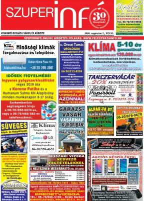 Kiskunfélegyházi Szuperinfó 2020. augusztus 7.
