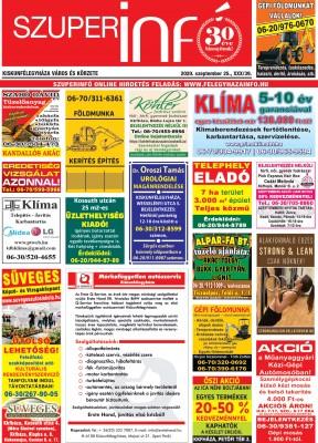 Kiskunfélegyházi Szuperinfó 2020. szeptember 25.